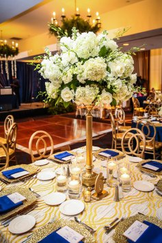 Floral decor by Edge Floral Event Designs