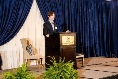 Speaker Ryan King discussing SEO