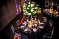 Floral Decor by Edge Floral Event Design. Ghost Chairs by Select Event Group.