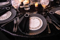 Menus by Fingers In Ink. Chargers by Select Event Group. Linens by CV Linens.